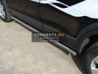 Пороги труба 60,3 мм Chevrolet Captiva 2006-2011